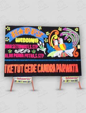 Karangan Bunga Pernikahan Papan Hitam