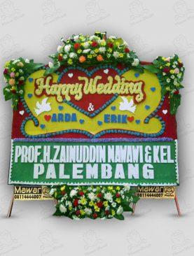Karangan Bunga Pernikahan Kuning