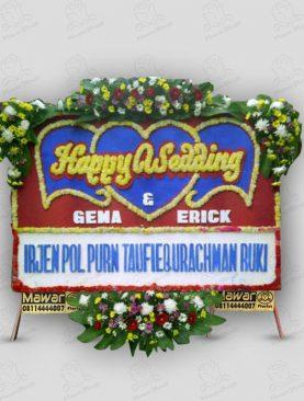 Karangan Bunga Pernikahan Merah