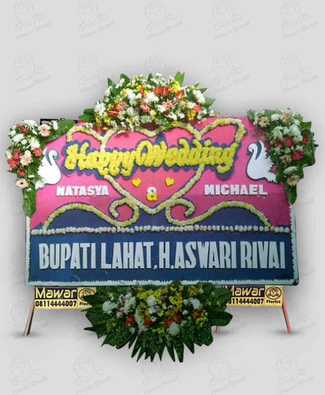Karangan Bunga Papan Pernikahan Murah Makassar