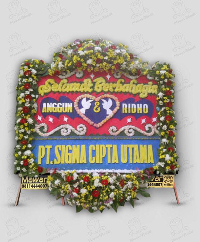 Karangan Bunga Pernikahan Murah Makassar