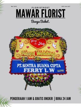 Karangan Bunga Pernikahan - Standar
